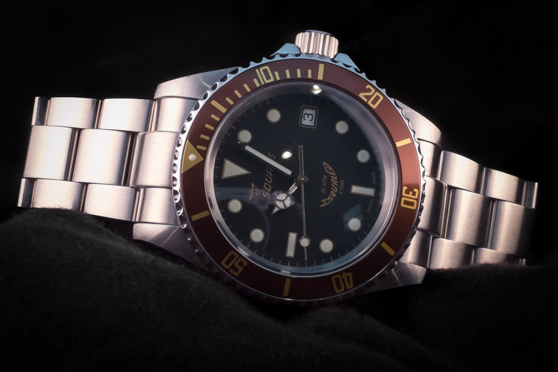 fs squale 20 atmos heritage with domed crystal lnib
